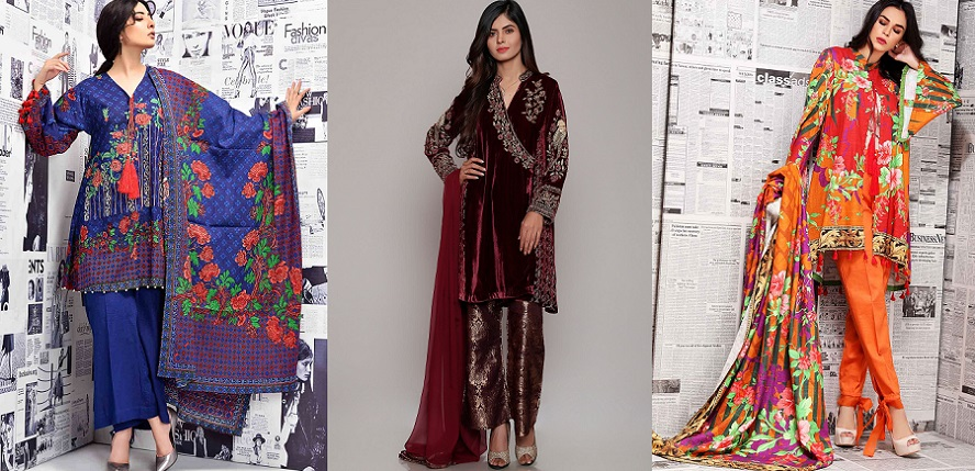 Latest Women Best Winter Dresses Designs Collection 2018