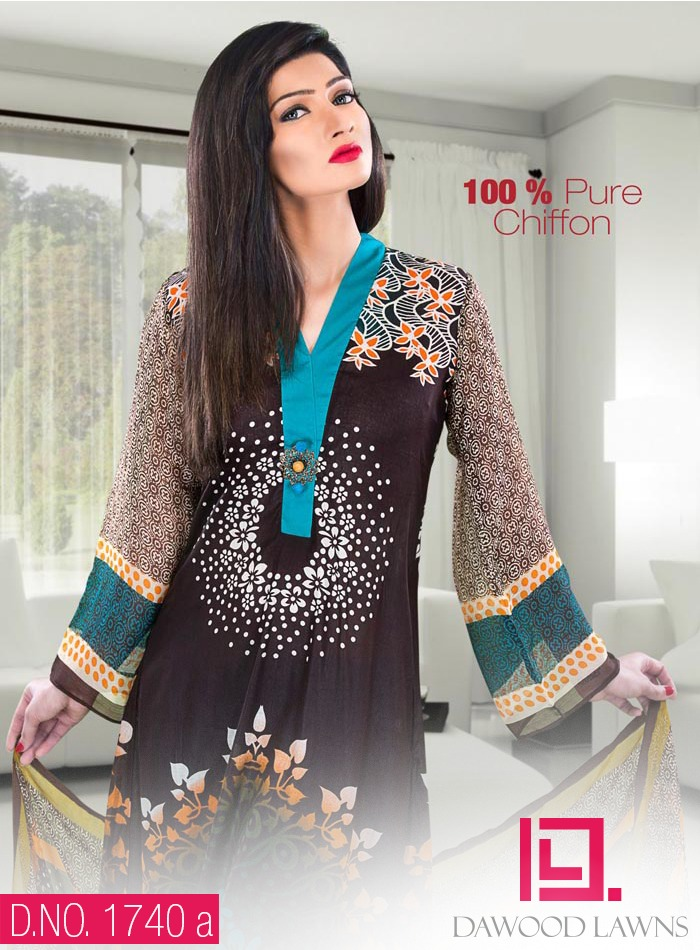 New Stylish and Fancy Chiffon & Khaddar Winter Dresses Eid ul Azha Collection 2014-2015 by Dawood Textiles Mill (10)