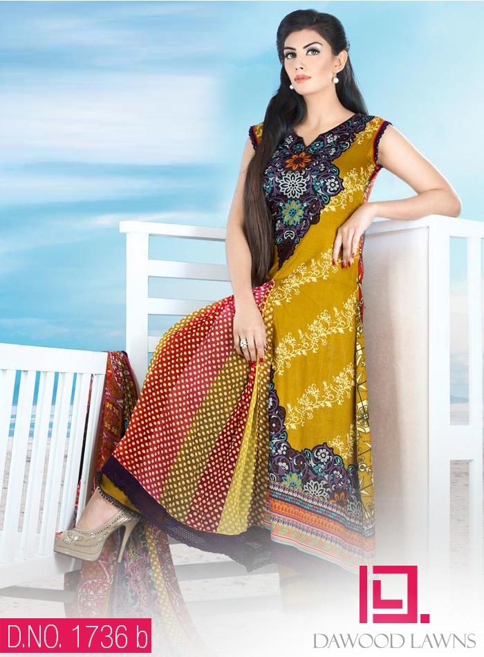 New Stylish and Fancy Chiffon & Khaddar Winter Dresses Eid ul Azha Collection 2014-2015 by Dawood Textiles Mill (13)