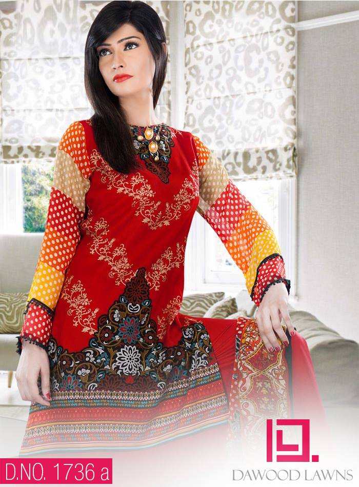 New Stylish and Fancy Chiffon & Khaddar Winter Dresses Eid ul Azha Collection 2014-2015 by Dawood Textiles Mill (13)