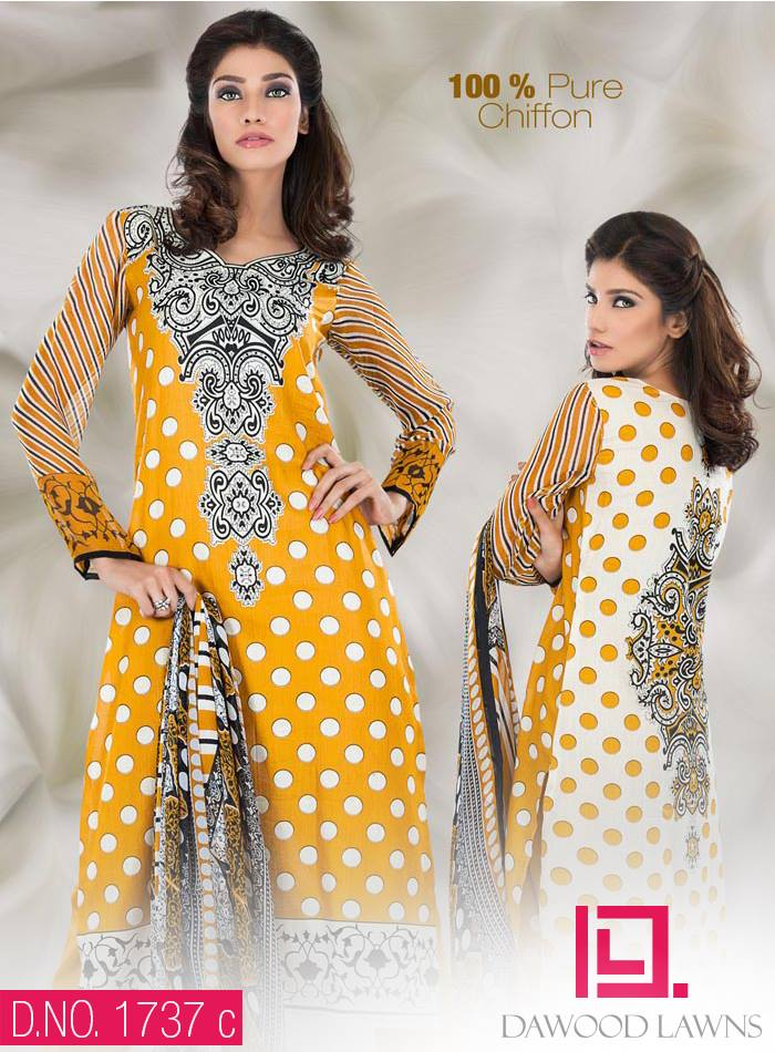 New Stylish and Fancy Chiffon & Khaddar Winter Dresses Eid ul Azha Collection 2014-2015 by Dawood Textiles Mill (14)