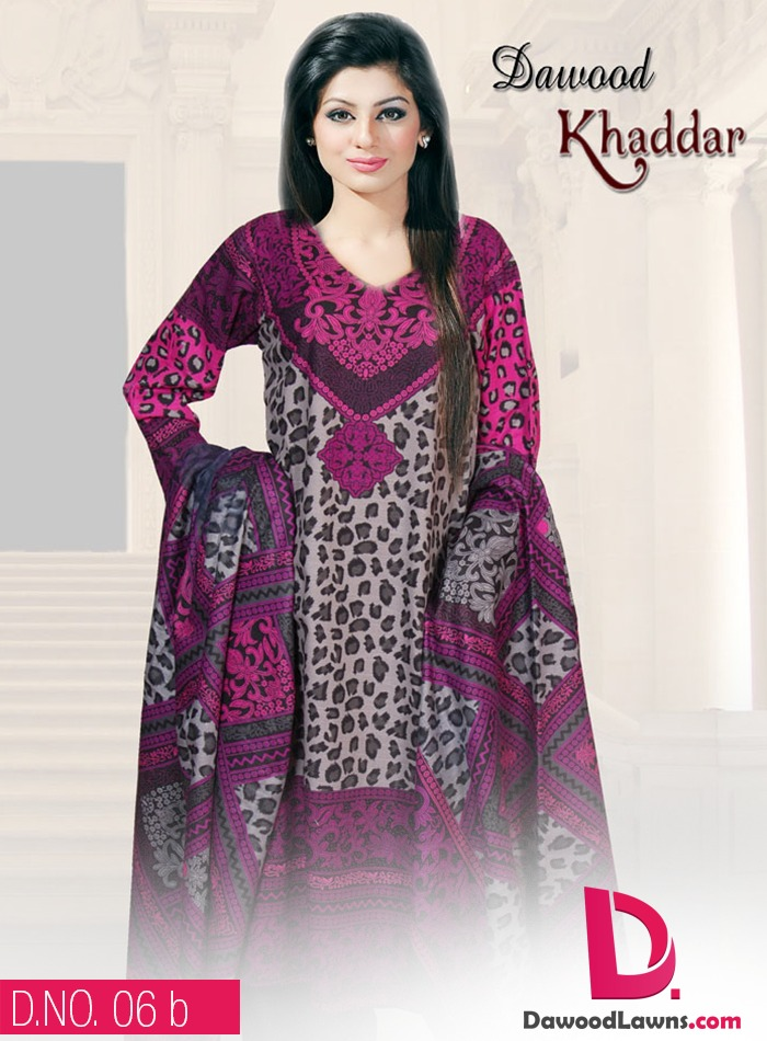 New Stylish and Fancy Chiffon & Khaddar Winter Dresses Eid ul Azha Collection 2014-2015 by Dawood Textiles Mill (15)