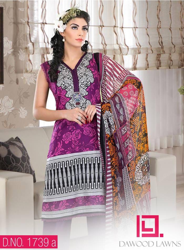 New Stylish and Fancy Chiffon & Khaddar Winter Dresses Eid ul Azha Collection 2014-2015 by Dawood Textiles Mill (15)