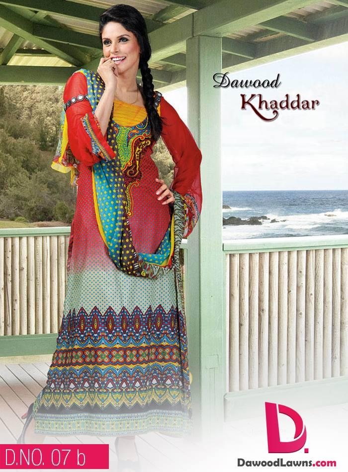 New Stylish and Fancy Chiffon & Khaddar Winter Dresses Eid ul Azha Collection 2014-2015 by Dawood Textiles Mill (16)