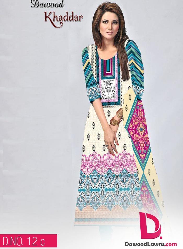 New Stylish and Fancy Chiffon & Khaddar Winter Dresses Eid ul Azha Collection 2014-2015 by Dawood Textiles Mill (18)