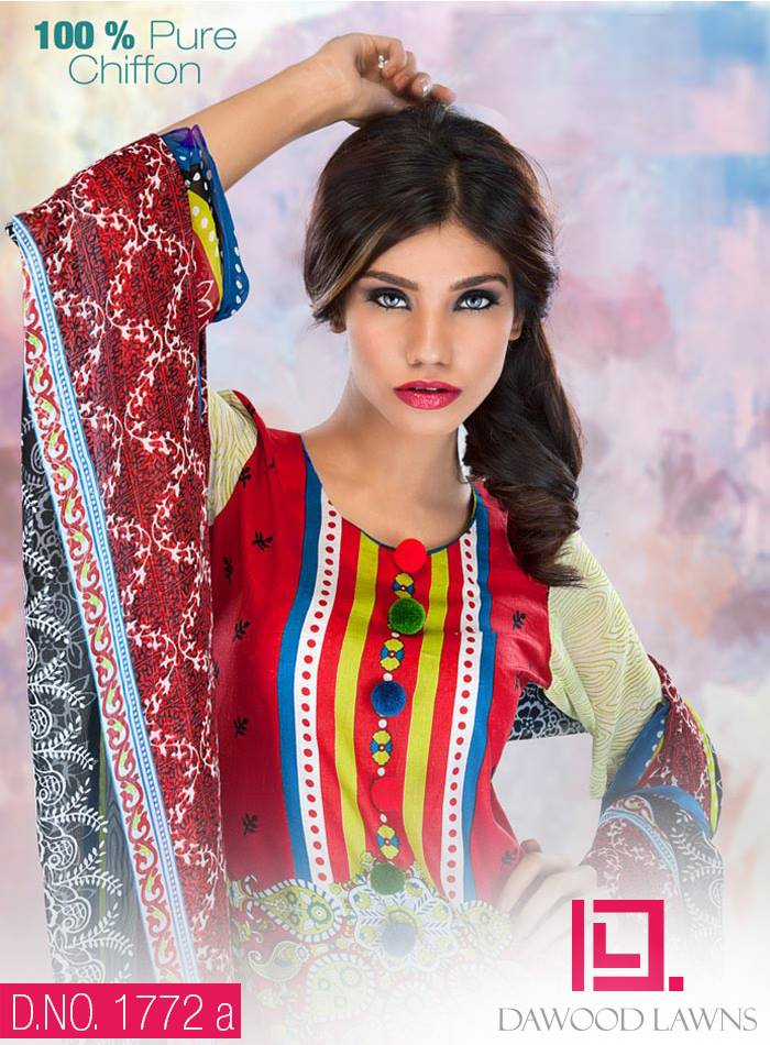 New Stylish and Fancy Chiffon & Khaddar Winter Dresses Eid ul Azha Collection 2014-2015 by Dawood Textiles Mill (3)