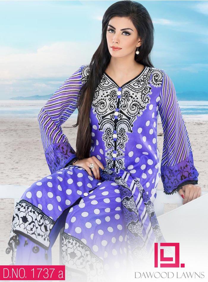 New Stylish and Fancy Chiffon & Khaddar Winter Dresses Eid ul Azha Collection 2014-2015 by Dawood Textiles Mill (9)