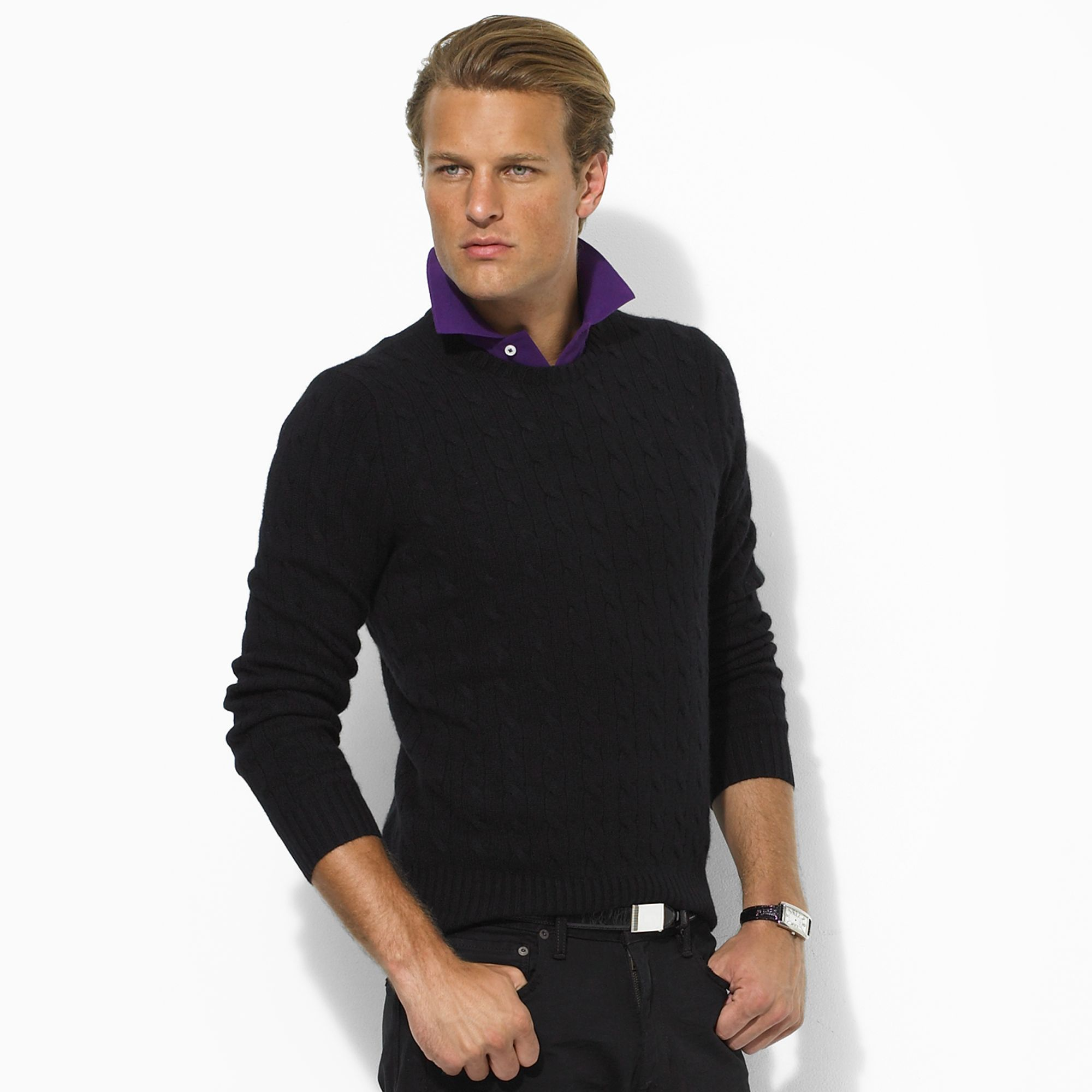 Ralph Lauren Latest Fall Winter Coats and Western Dresses Sweaters Collection for Men and Women 2014-2015 (23)