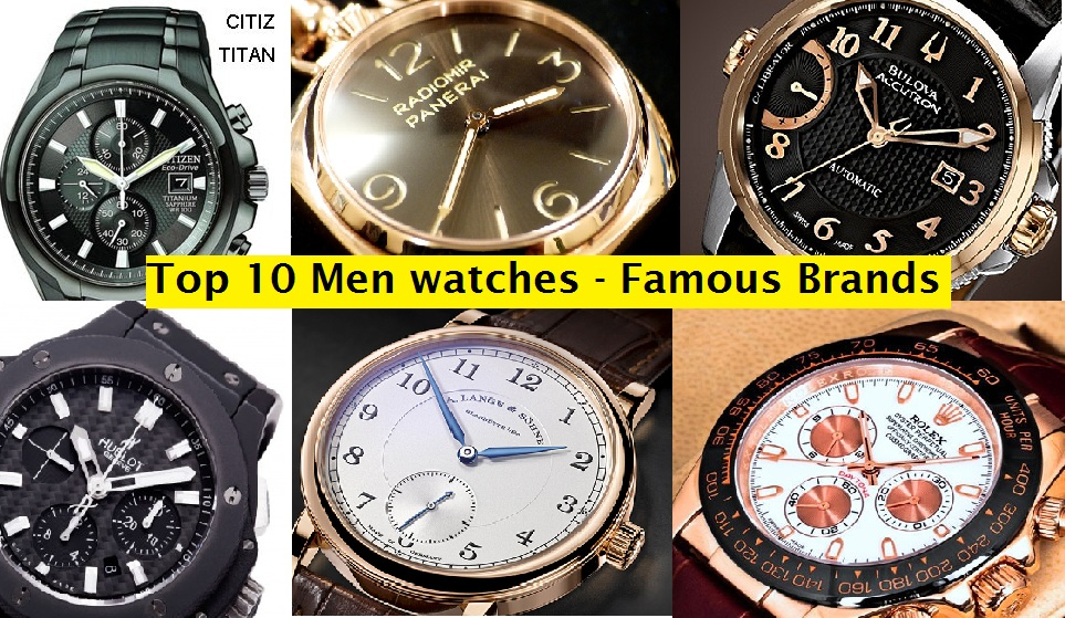 Men's Designer Clothing Brands List Top Best Men Watches Hit
