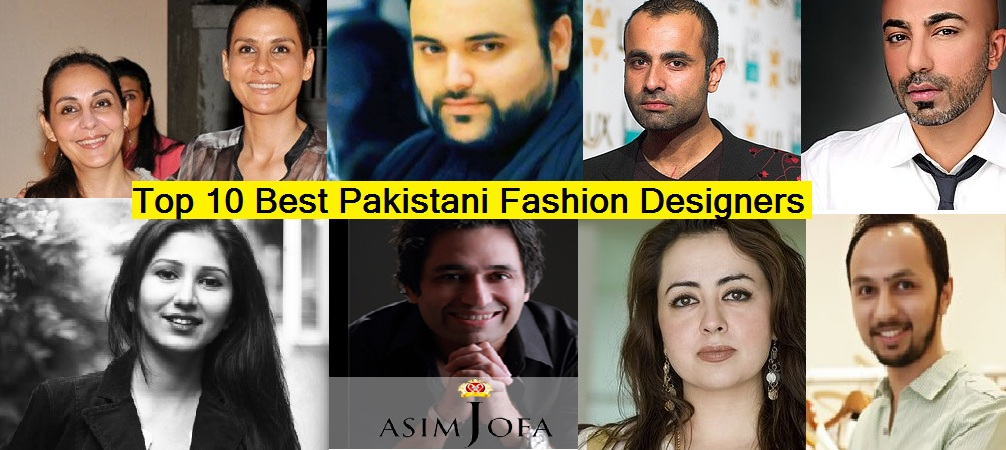 Clothing Designers List Pakistan Fashion designers