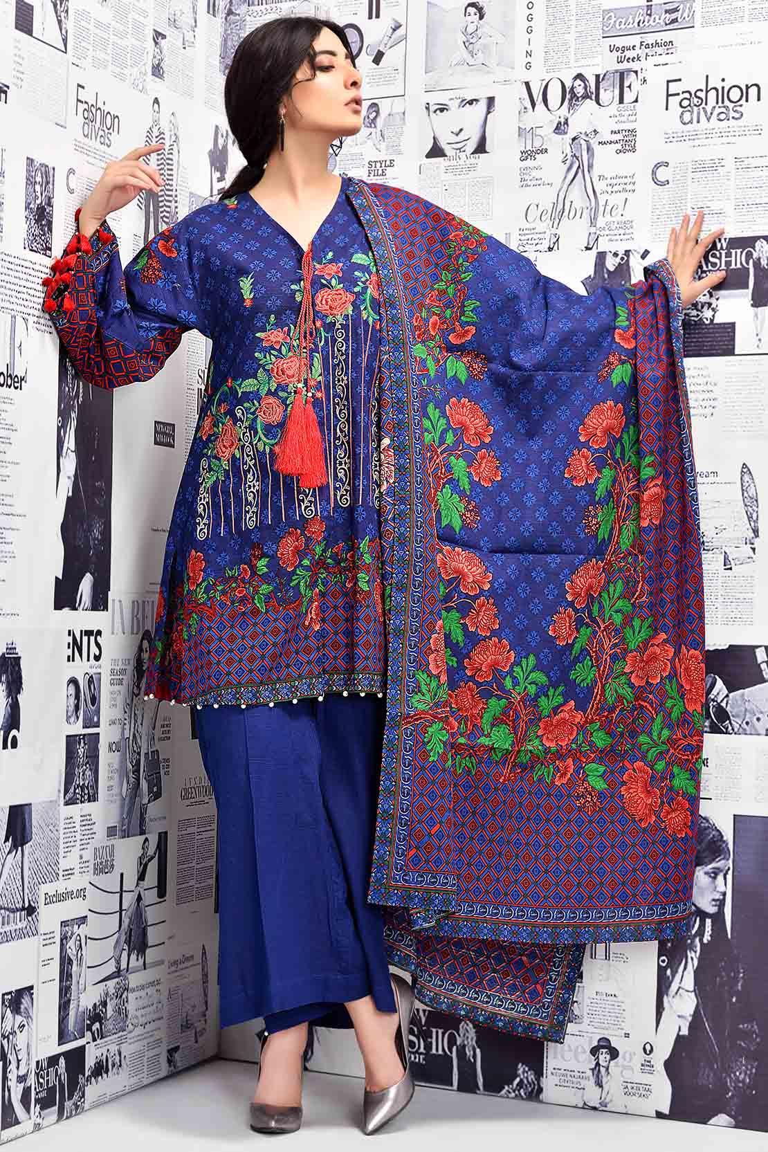 Latest Women Best Winter Dresses Designs Collection 2018 19