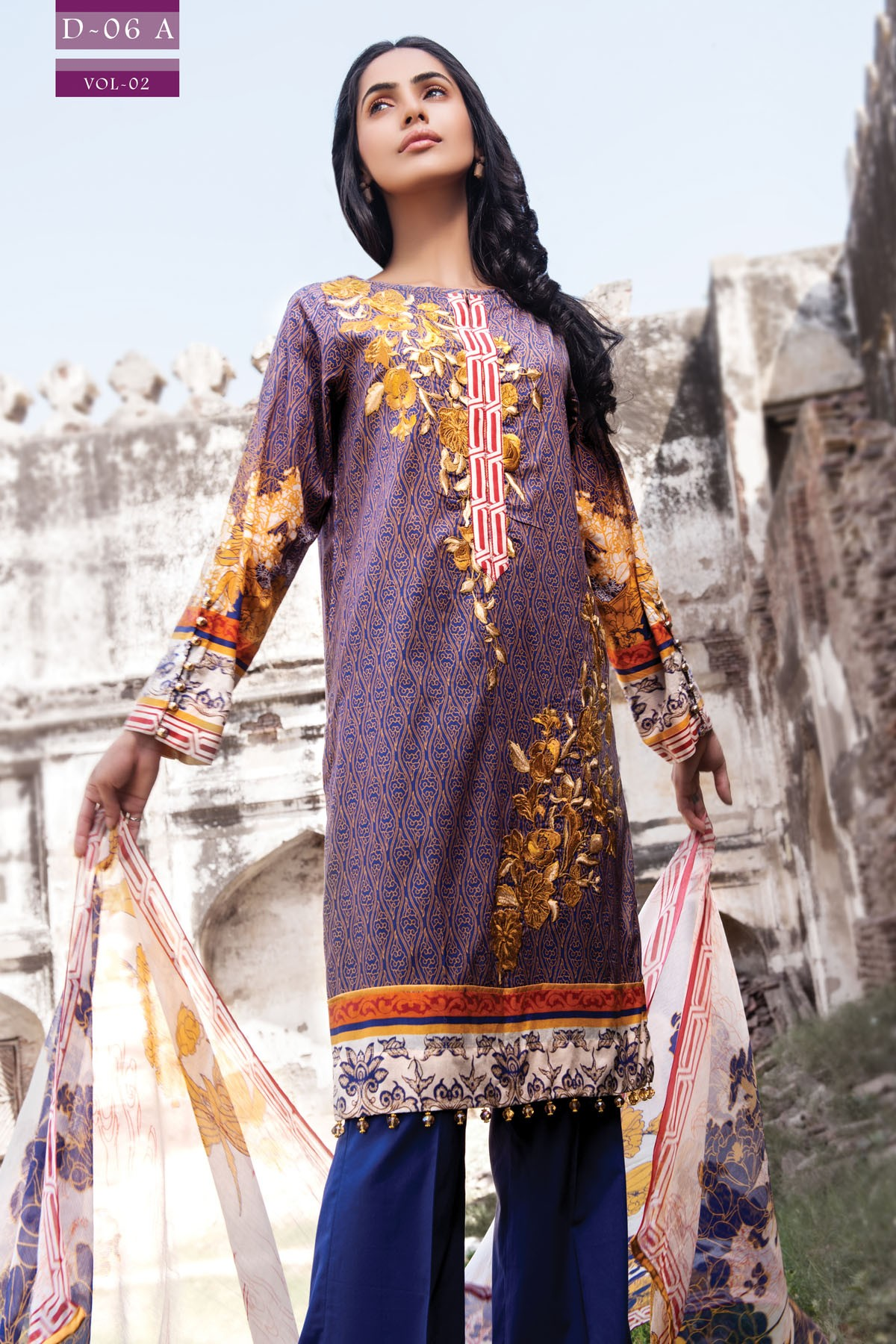 Zeniya Lawn By Deepak Perwani Pret & Printed Suits Eid Collection 2016-2017 (1)