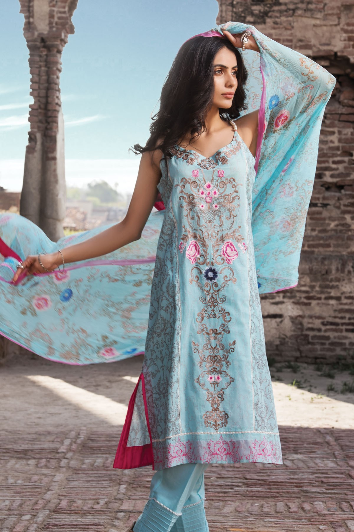 Zeniya Lawn By Deepak Perwani Pret & Printed Suits Eid Collection 2016-2017 (10)