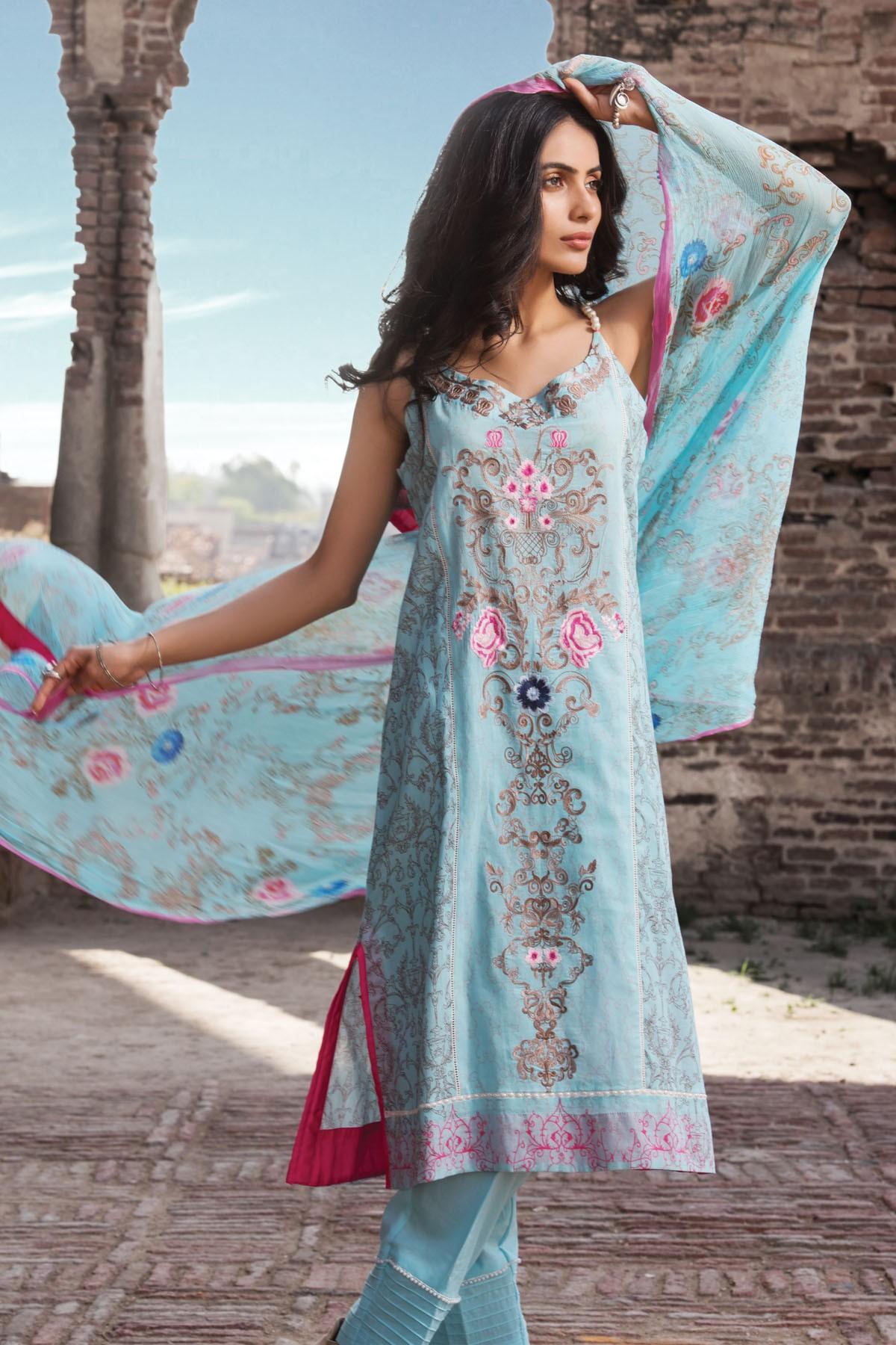 Zeniya Lawn By Deepak Perwani Pret & Printed Suits Eid Collection 2016-2017 (10)