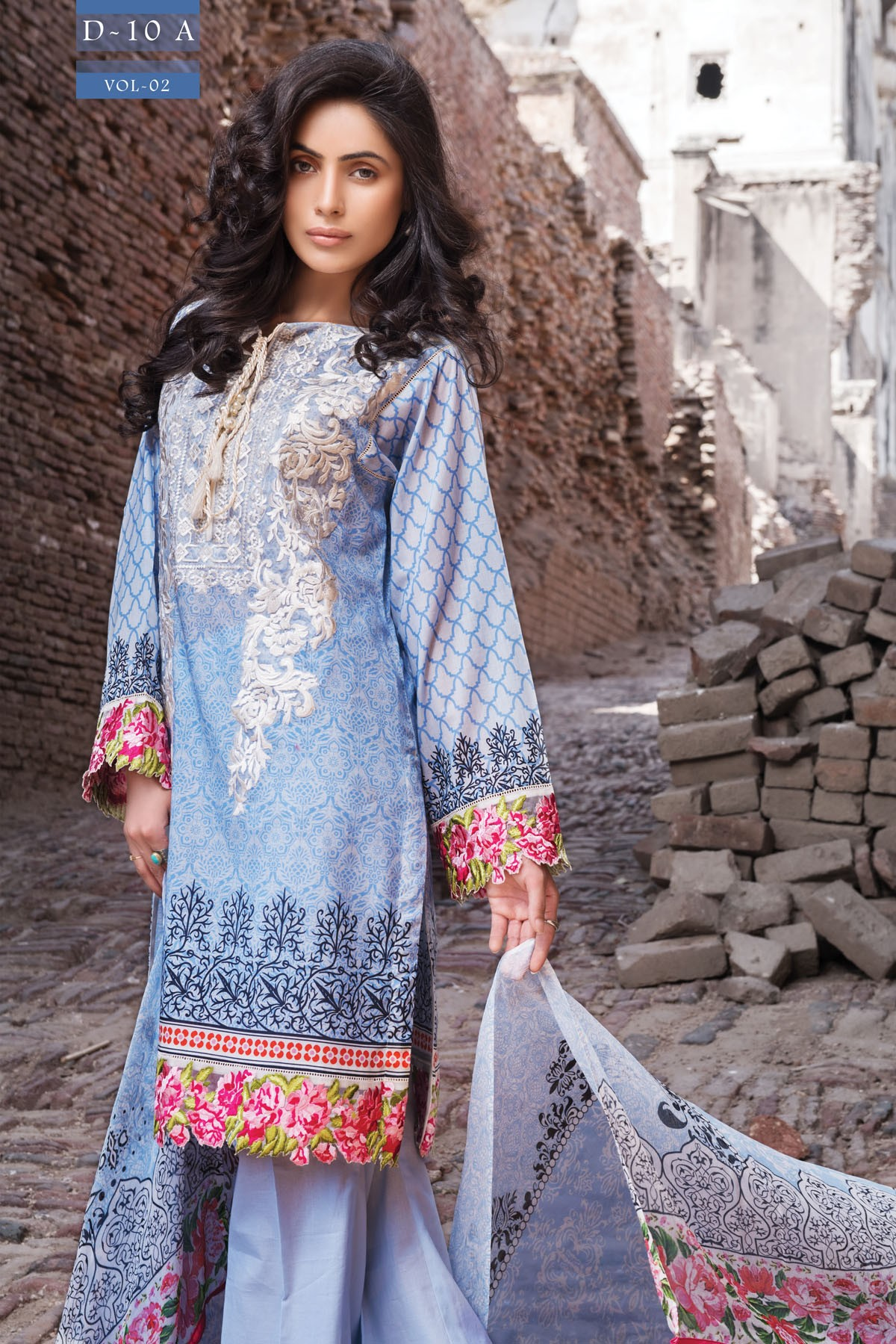Zeniya Lawn By Deepak Perwani Pret & Printed Suits Eid Collection 2016-2017 (12)