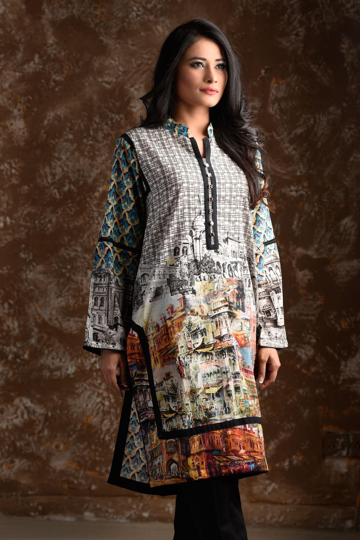Zeniya Lawn By Deepak Perwani Pret & Printed Suits Eid Collection 2016-2017 (14)