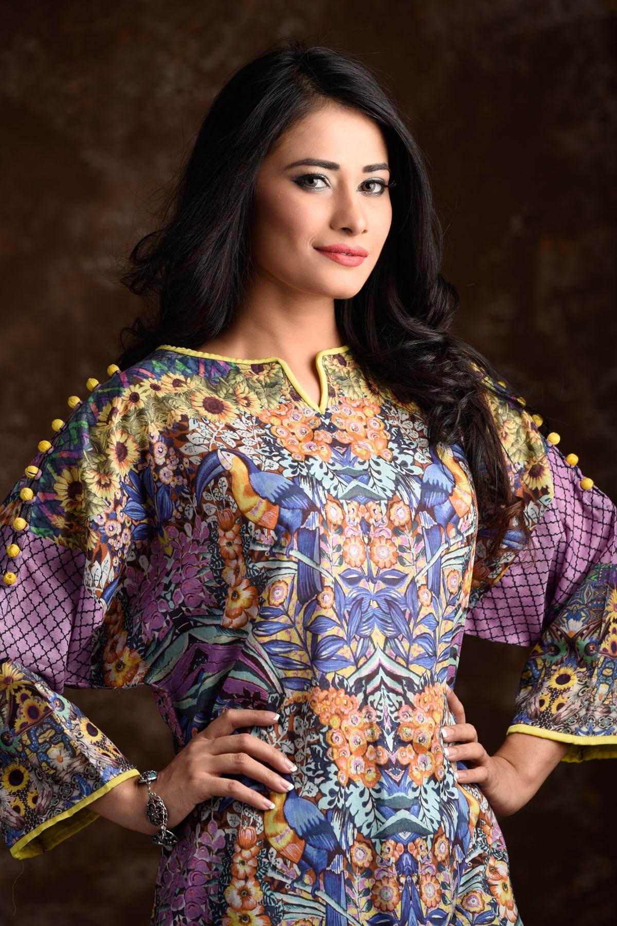 Zeniya Lawn By Deepak Perwani Pret & Printed Suits Eid Collection 2016-2017 (15)