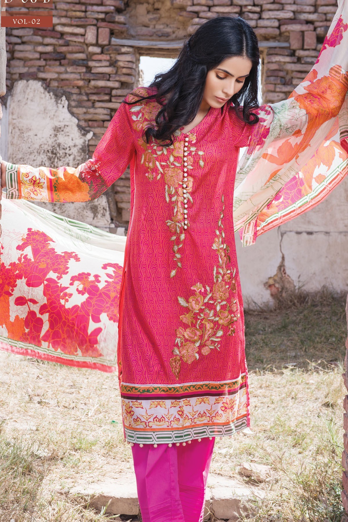 Zeniya Lawn By Deepak Perwani Pret & Printed Suits Eid Collection 2016-2017 (2)