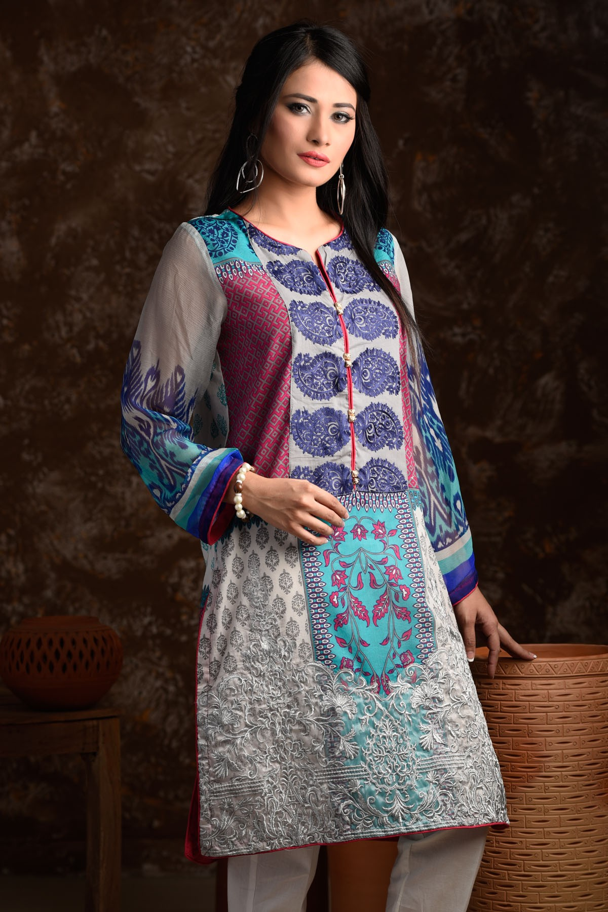 Zeniya Lawn By Deepak Perwani Pret & Printed Suits Eid Collection 2016-2017 (3)
