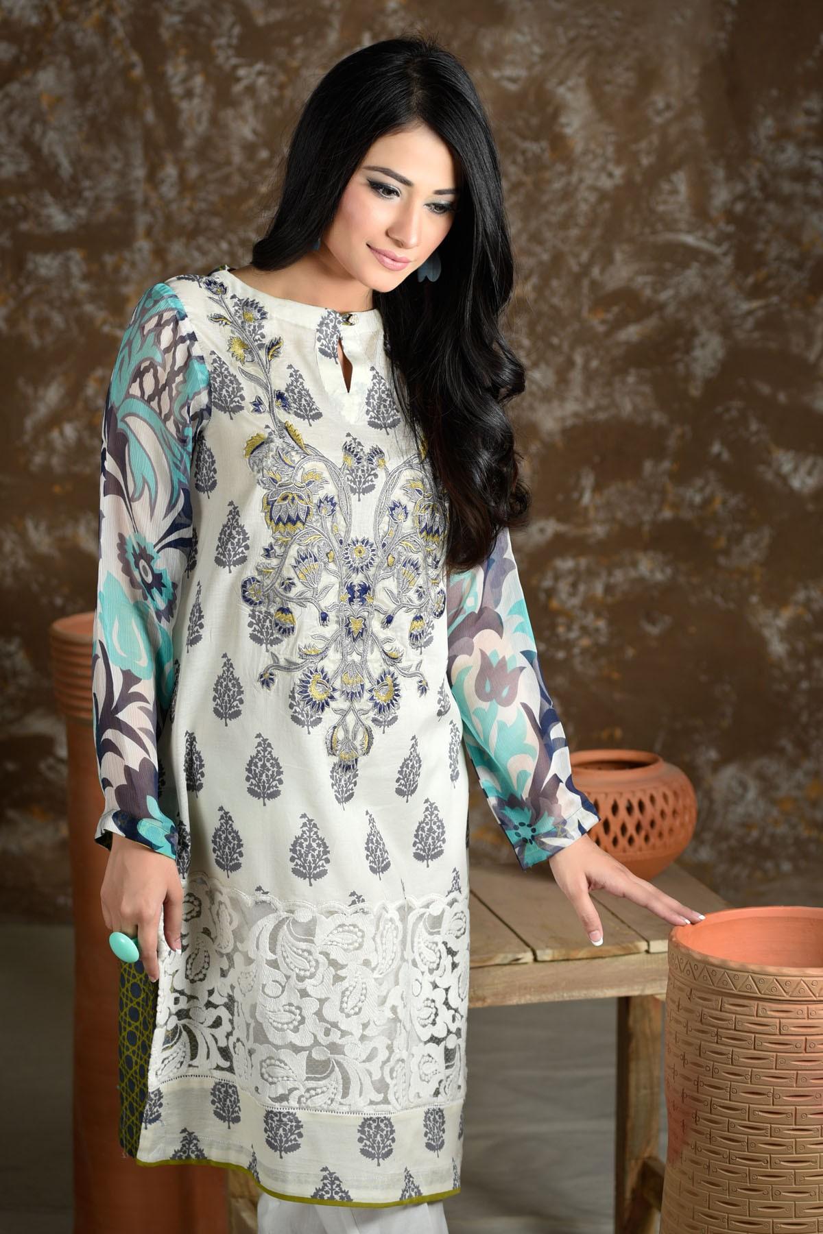 Zeniya Lawn By Deepak Perwani Pret & Printed Suits Eid Collection 2016-2017 (4)