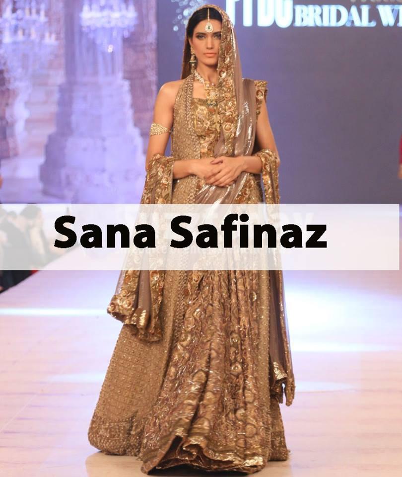 Best Pakistani Fashion Designer Bridal Collections At Pfdc L Oreal Paris Bridal Couture Week 2014 2015 Sana Safinaz 2 Stylesgap Com