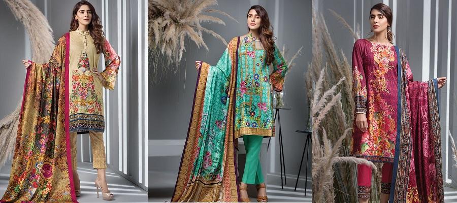House Of Ittehad Latest Winter Linen Khaddar Dresses Designs 2018-2019