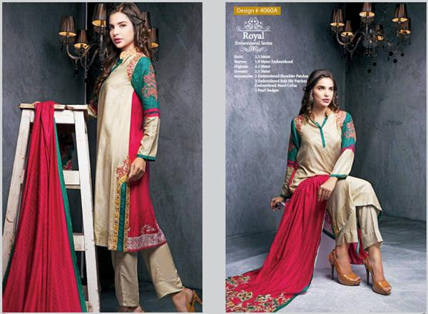 House Of ittehad Royal Embroidered Series Winter Dresses Collection 2014-2015 (2)