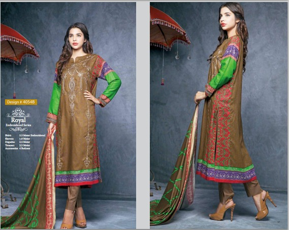 House Of ittehad Royal Embroidered Series Winter Dresses Collection 2014-2015 (4)