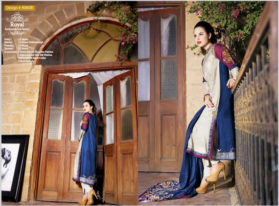 House Of ittehad Royal Embroidered Series Winter Dresses Collection 2014-2015 (5)