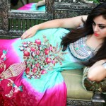 Latest Best Party Wear Frocks & Gowns for Women 2014-2015 | Fancy Embroidered Collection