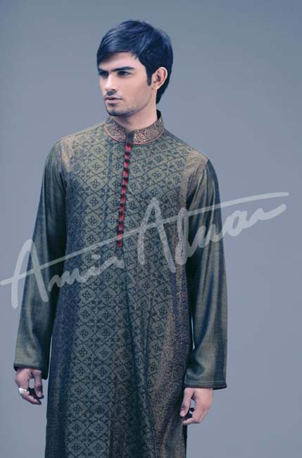 Latest Best Winter Dresses Collection for Men by Pakistani Brands 2014-2015 - Amir Adnan (2)