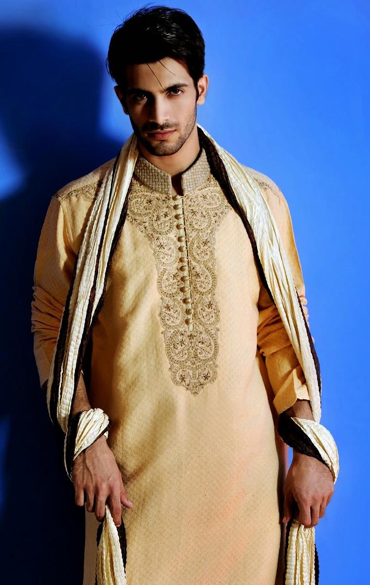 Latest Best Winter Dresses Collection for Men by Pakistani Brands 2014-2015 - Amir Adnan (4)
