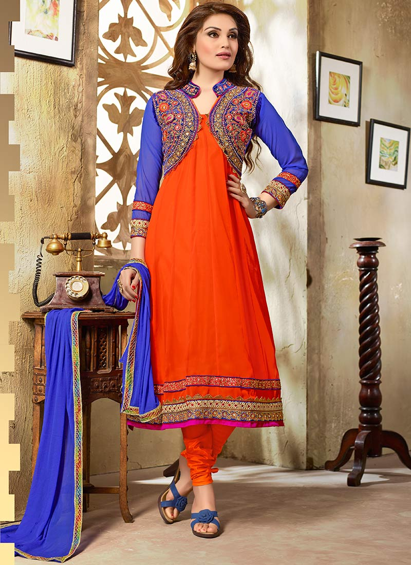 latest indian kalidar suits best salwar kameez 201415