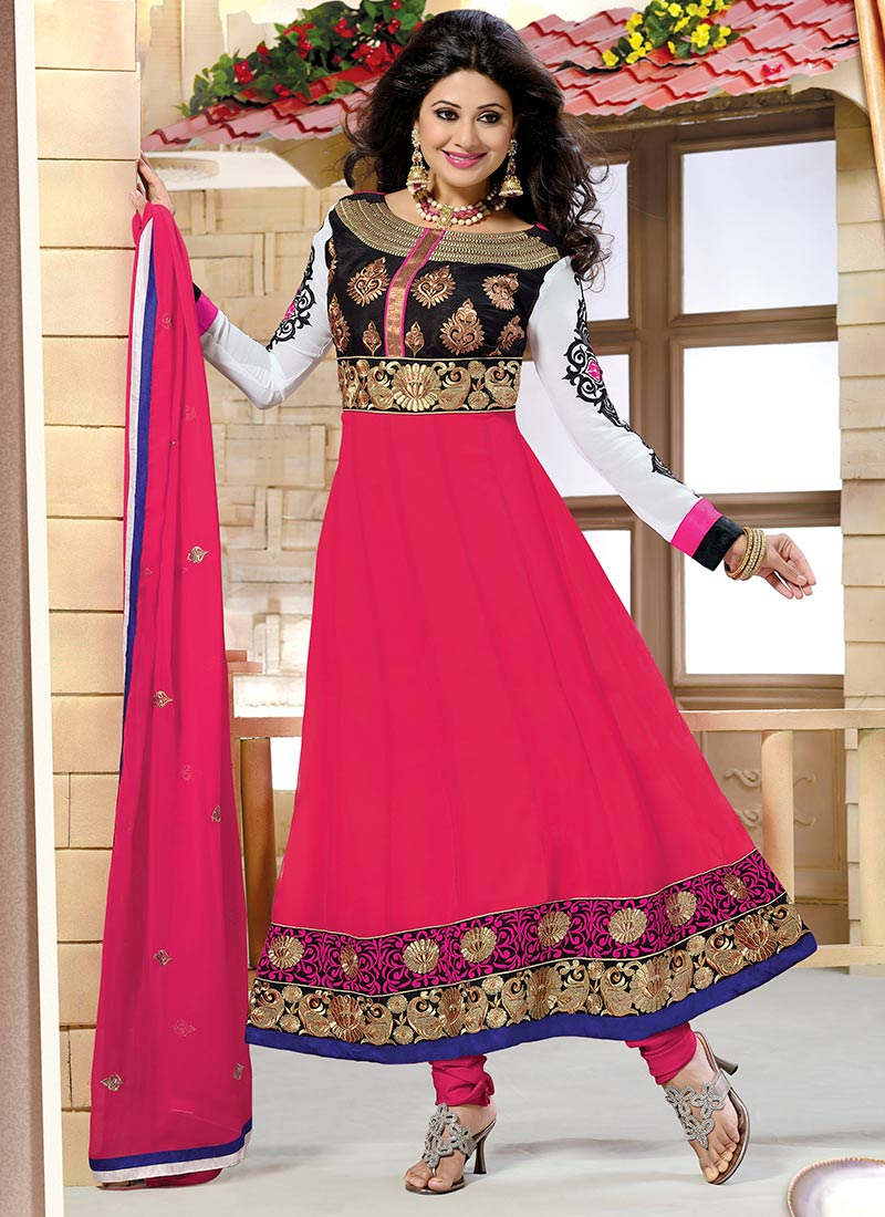 02b7a30477bc Latest Indian Kalidar Suits Best Salwar Kameez 2014-15 Collection ...