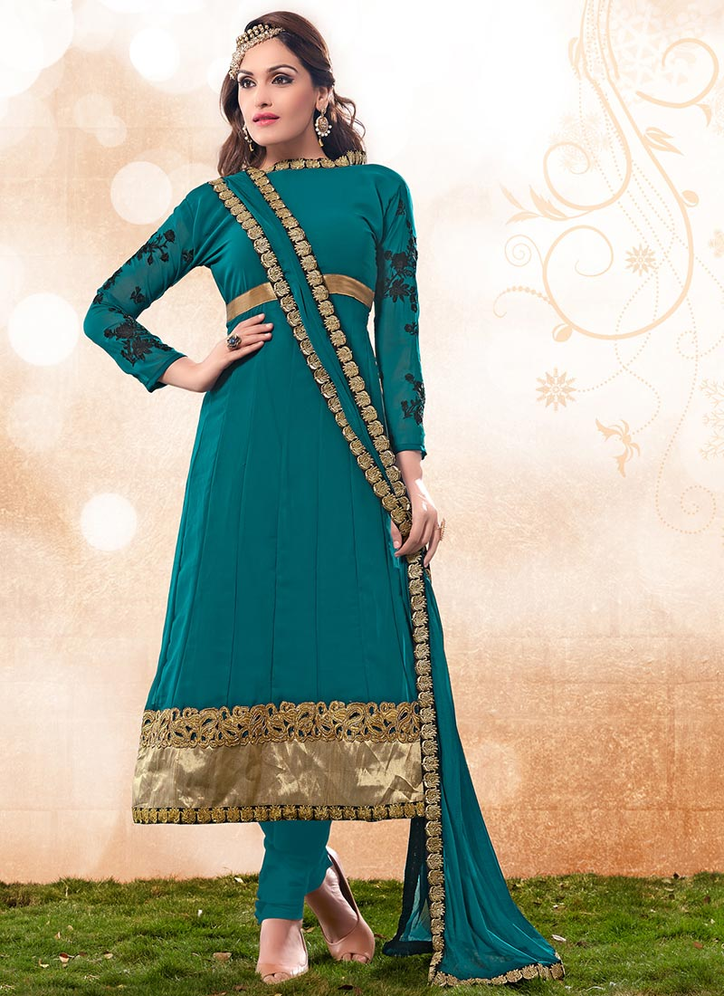 Latest Indian Kalidar Suits Best Salwar Kameez Collection for Women 2014-2015 (7)