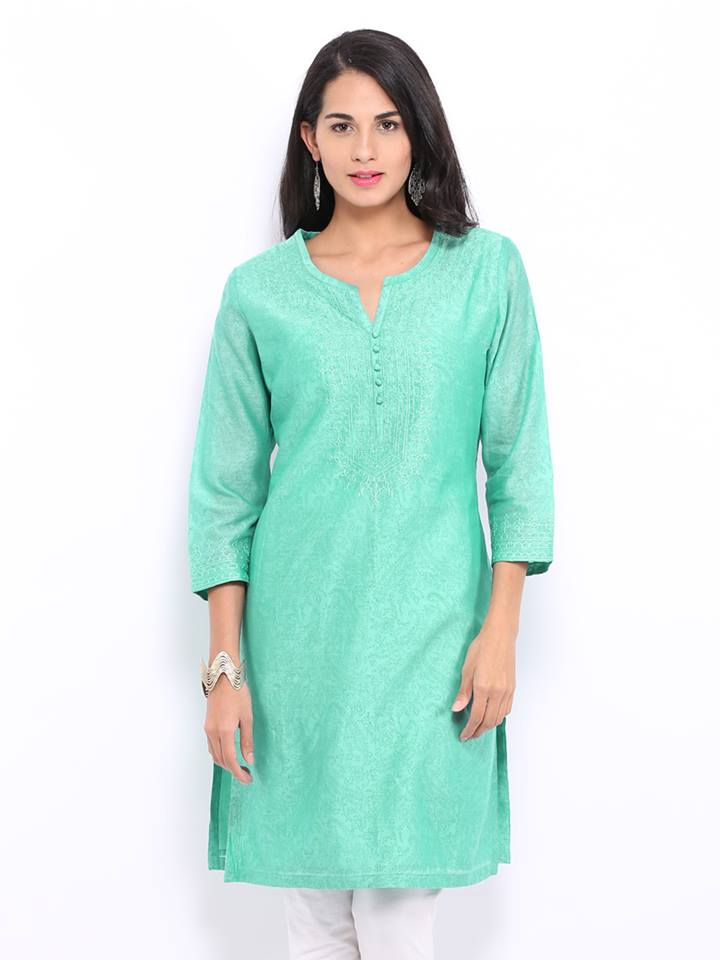 Latest Women Best Winter Dresses Designs Collection 2014 2015: Latest Women Best Kurti Designs Collection For Winter By