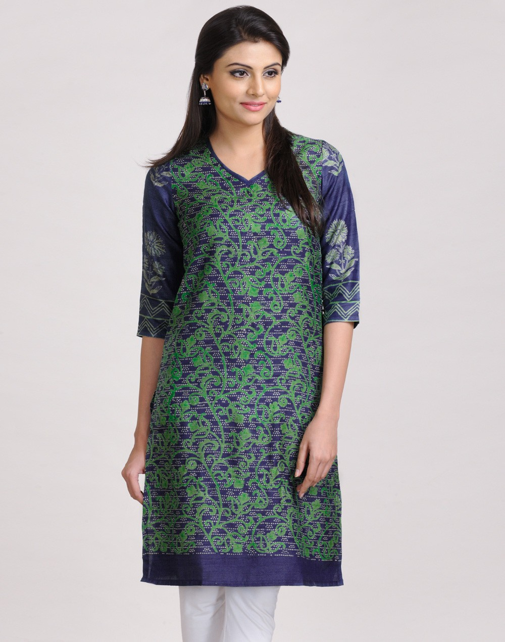 Latest Women Best Kurti Designs Collection For Winter by Fabindia 2015-2016 (16)