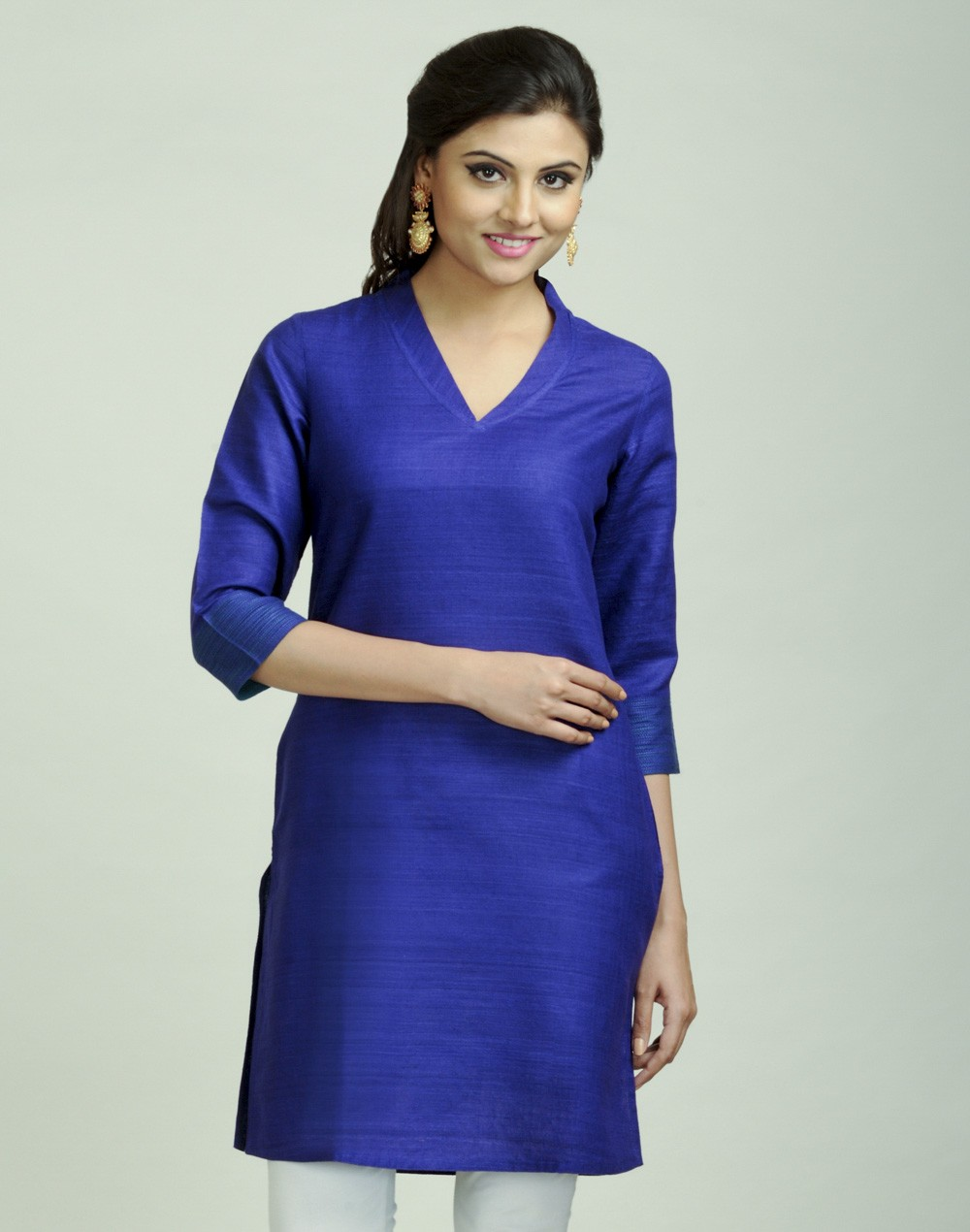 Latest Women Best Kurti Designs Collection For Winter by Fabindia 2015-2016 (21)