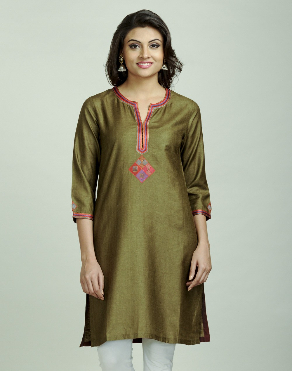 Latest Women Best Kurti Designs Collection For Winter by Fabindia 2015-2016 (25)