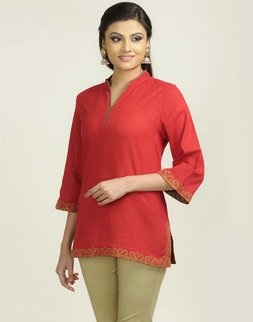 Latest Women Best Kurti Designs Collection For Winter by Fabindia 2015-2016 (28)