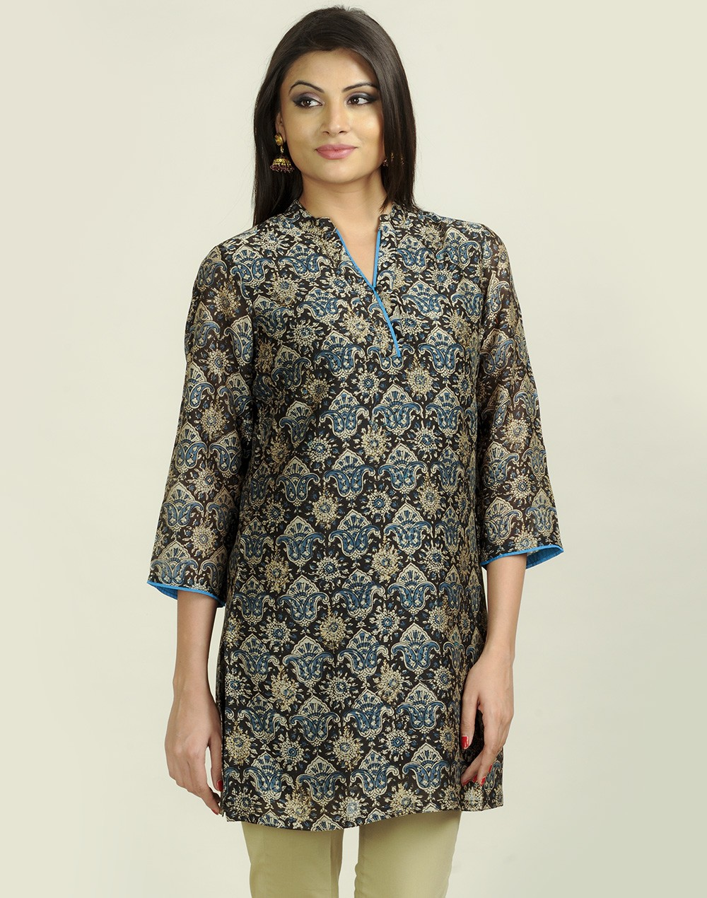 Latest Women Best Kurti Designs Collection For Winter by Fabindia 2015-2016 (30)