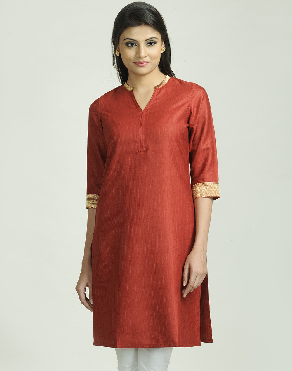 Latest Women Best Kurti Designs Collection For Winter by Fabindia 2015-2016 (34)