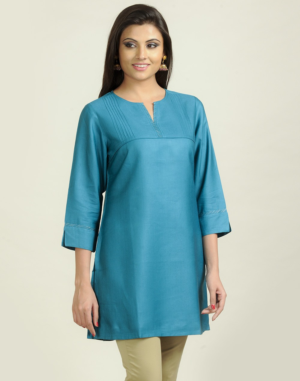 Latest Women Best Kurti Designs Collection For Winter by Fabindia 2015-2016 (35)