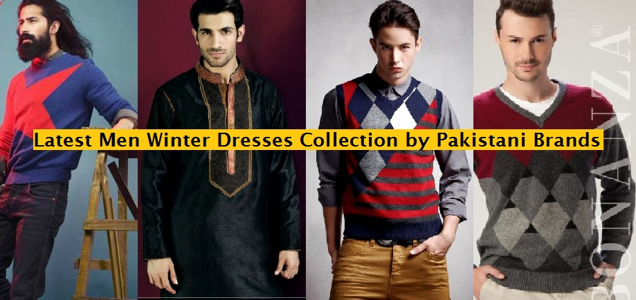 Latest men winter dresses collections by Pakistani brands 2014-2015