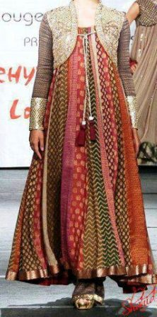 New Indian Fashion Long Shirt Anarkali Dresses for Girls 2014-2015 Fancy Embroidered Collection (10)
