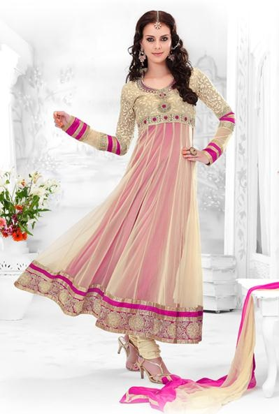 New Indian Fashion Long Shirt Anarkali Dresses for Girls 2014-2015  Fancy Embroidered Collection (11)