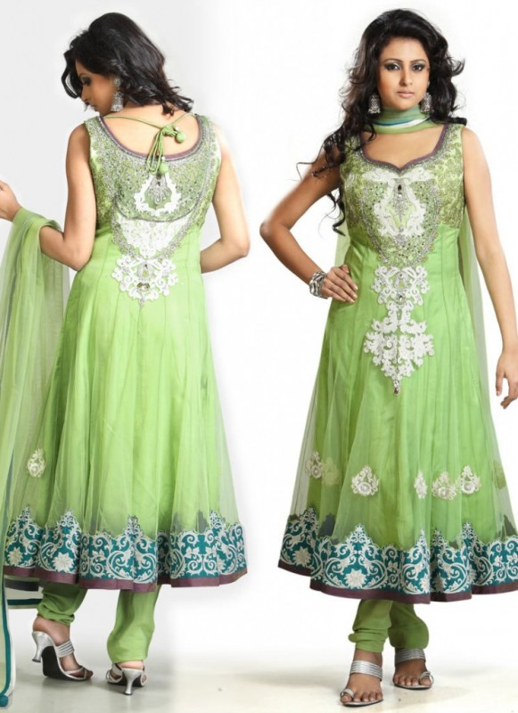 New Indian Fashion Long Shirt Anarkali Dresses for Girls 2014-2015 Fancy Embroidered Collection (13)