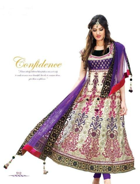 New Indian Fashion Long Shirt Anarkali Dresses for Girls 2014-2015 Fancy Embroidered Collection (14)