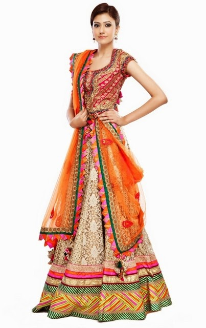 New Indian Fashion Long Shirt Anarkali Dresses for Girls 2014-2015 Fancy Embroidered Collection (16)
