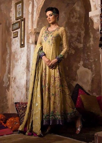 New Indian Fashion Long Shirt Anarkali Dresses for Girls 2014-2015 Fancy Embroidered Collection (20)